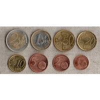 Латвия  / набор из 8 монет / 1, 2, 5, 10, 20, 50 евроцентов 1. 2 евро / Цена за все монеты /(Sx)