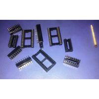DIP панели для микросхем: 24 и 16 контактов.