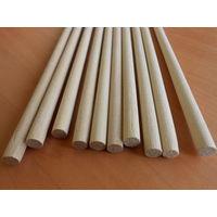 Круглые деревянные палочки, стержни, заготовки для ремесел 8мм 20см