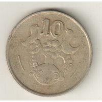 Кипр 10 цент 1988