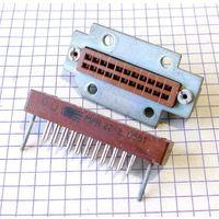 Малогабаритный разъём низкочастотный МРН 22-2 с кронштейном крепления