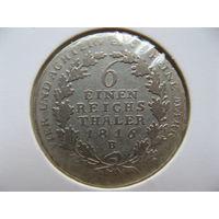 Пруссия 1/6 талера 1816 г. В серебро