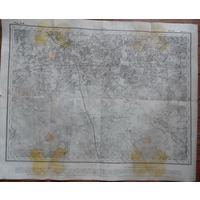 ПМВ трехверстка оригинал 1914г. Клецк Ряд 17 Лист 5