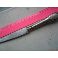 Нож с посеребренной мельхиоровой ручкой