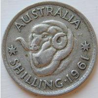 8. Австралия 1 шиллинг 1961 год, серебро*