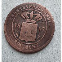 БРАК Голландская Ост-Индия 2,5 цента, 1897 7-3-10