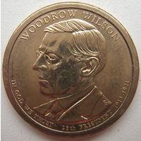 США 1 доллар 2013 г. 28-й Президент США Вудро Вильсон