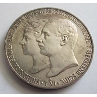 Германия, Мекленбург Шверин, 5 марок, 1904, серебро