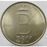 Бельгия 250 франков 1991 25 лет правления СЕРЕБРО (2-349) распродажа коллекции