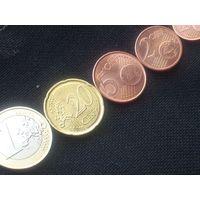 МОНЕТЫ евро ЛИТВА , 1 евро, 20,5,2,1 цент. В ОБОРОТЕ НЕ БЫЛИ