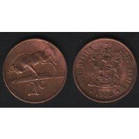 Южная Африка (ЮАР) _km83 2 цента 1970 год (b06)