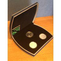 Комплект из 3 монет Рогволод Полоцкий и Рогнеда, Глеб Минский, Наполеон Орда