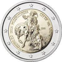 2 Евро Ватикан 2016 Святой год Милосердия UNC в буклете
