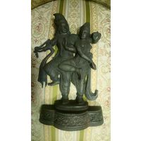 Танец Шива и Парвати. Чугунное литье. 25 см.