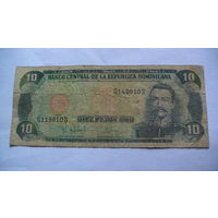 Доминиканская республика, доминикана 10 песо оро 1998г. 119810 распродажа