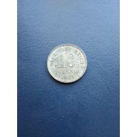 Германия 10 пфенингов 1921(цинк)15