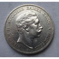Германия, Пруссия, 5 марок, 1907, серебро