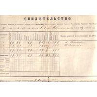 Аттестат Царское село 1917 год