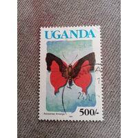 Уганда 1991. Бабочки