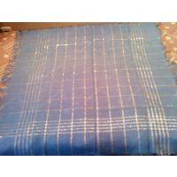Платок небесно-голубой с люрексом и бахромой