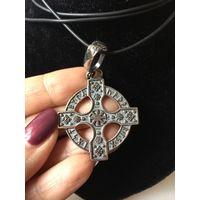 Амулет Кельтский Крест, серебрение