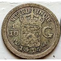 Голландская Ост-Индия 1/10 гульдена, 1914 1-7-16