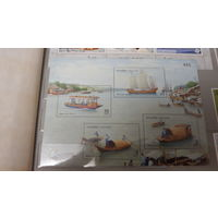 Парусники, корабли, флот, транспорт, моренистика - марки Тайланд блок