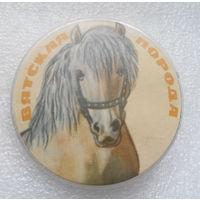 Значок. Лошадь. Вятская порода #0097