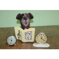 Часы , будильники в работу 3 штуки старт с 2 рублей без МЦ смотрите другие лоты много торгов с 2 рублей!!!