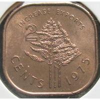 Свазиленд 2 цента 1975 КМ#22 ФАО в холдере
