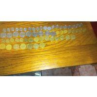 Погодовка монет украины. 59 шт. С рубля