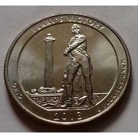25 центов, квотер США, Мемориал мира, штат Огайо, P D