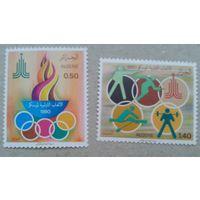 Алжир, олимпиада-80,  2 марки