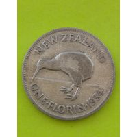 Новая Зеландия 1 Флорин 1934г серебро