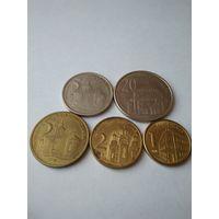 Набор монет Сербии.