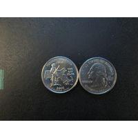 США квотер 25 центов Р.2000г Массачусетс