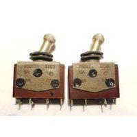 Тумблер ТВ1-2: двухполюсный перекидной переключатель (выключатель)