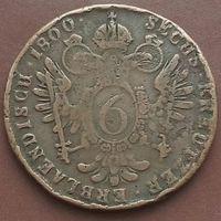 6 крейцеров 1800 АВСТРИЯ