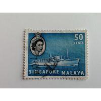 Сингапур 1955. Королева Елизавета II