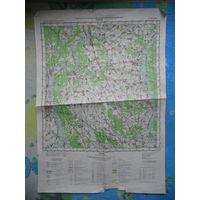 Карта Жлобин и окресности. 55 на 38 см.