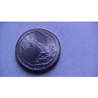 США 25 центов 2015г BLUE RIDGE PARKWAY (P)  распродажа