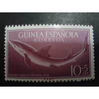 Гвинея 1954 колония Испании Акула