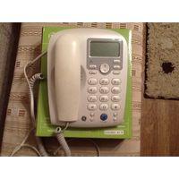 Телефон стационарный проводной на батарейках