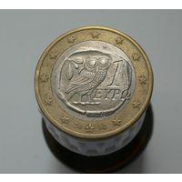 1 евро 2002 Греция S (чеканилась в Финляндии)