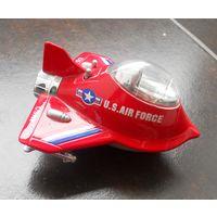 Игрушка самодвижущийся самолёт, модель, металл.