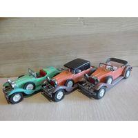 Три коллекционные модели автомобилей.Одним лотом.1/43.СССР.