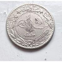 """Османская империя 20 пар, 1327 (1909) цифра """"E"""" (4) 5-2-6"""