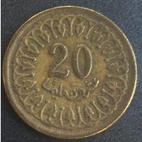 Тунис, 20 миллимов 1983