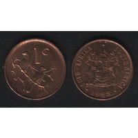 Южная Африка (ЮАР) _km82 1 цент 1988 год (b06)