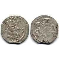 Двуденар 1579, Курляндия, Готхард Кеттлер, R4